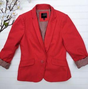 Limited Coral/Orange Blazer Patterned Blazer